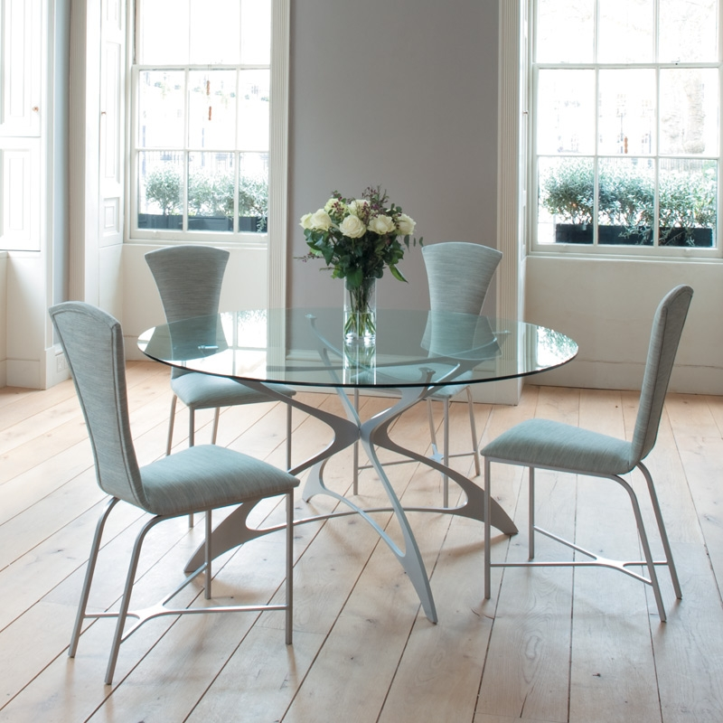 Modern Dining Room With Awesome Gl Round Kitchen Table Set For 4 Design Flower And