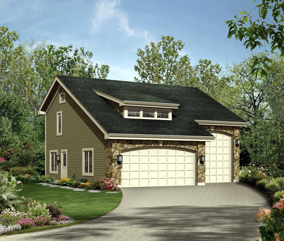 . Independent and Simplified Life with Garage Plans with Living Space