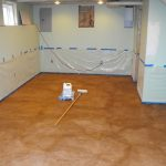 modern painting basement floors best concrete basement floor ideas soft blue basement walls