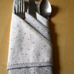 napkins cloth fork knife spoon