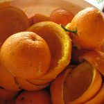 natural orange peels to get rid of pet odor basketful orange peels