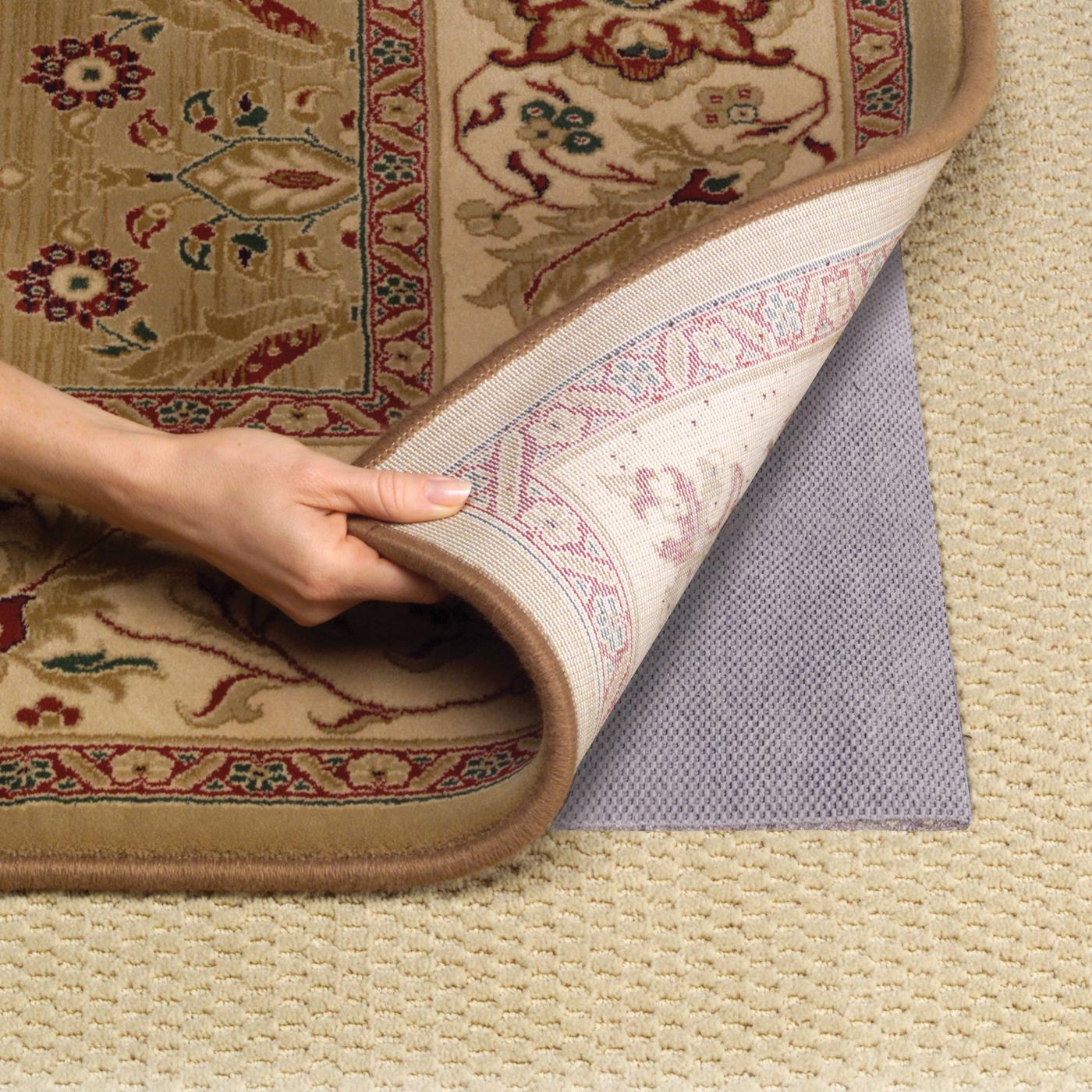 Natural Rubber Rug Pad For Hardwood Floor Over Fiber Color Flower Motive