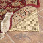 Natural Rubber Rug Pad For Hardwoon Floor Red Flower Motive Carpet
