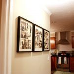 nice design pf picture frame target in kitchen hallway with black frame stacked on white wall facing kitchen set