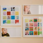 nice framed displaying kids art idea with plaid pattern and colorful theme and pictures on the wall