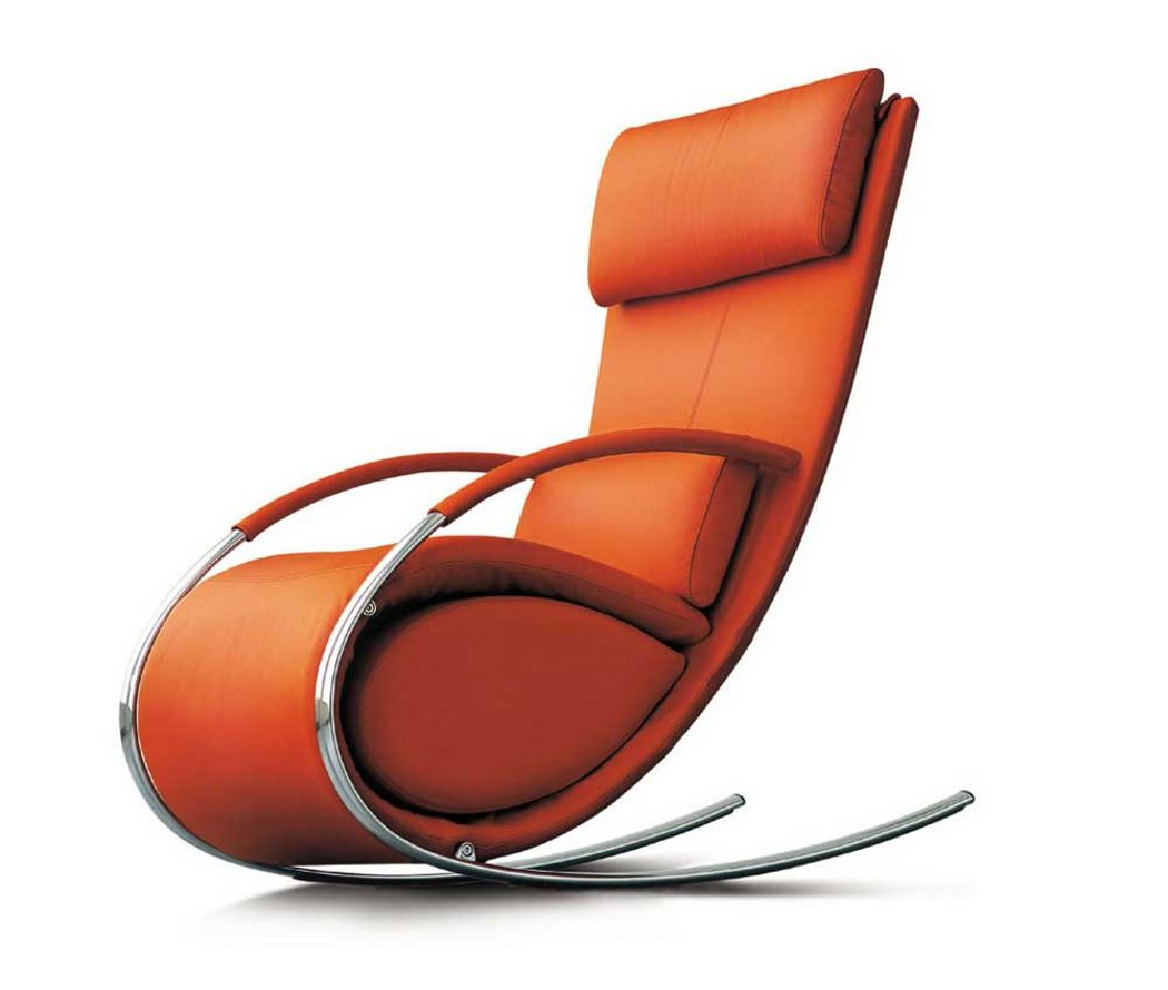 Charmant Orange High End Recliners With Modern Design With Steel Frame Plus Rocking  Style With Super Comfy