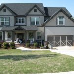 outdoor house paint color idea windows garage door grass park