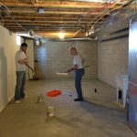 painting basement floors painting steps mixing paint with catalyst
