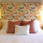pillows bed flower lamps