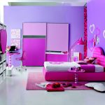 pink purple color combinations bedroom purple wall white pink bed two tones closet three tones cabinet pink fur mat white tile floor pink standing lamp white pink wall