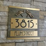 plaque home wall stone