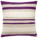 playful modern purple accent pillow idea with stripe pattern in ombre style