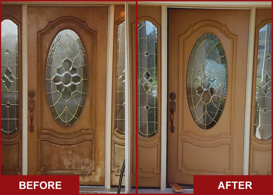 Refinish Front Door Before After Refinishing Work Clic Chic Wooden Gl