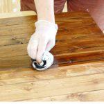 refinish front door manually staining wooden front door