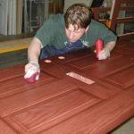 refinish front door staining wooden front door wiping stain on front wooden door workshop space