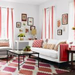 rug sofas pillows table pics curtains lamps