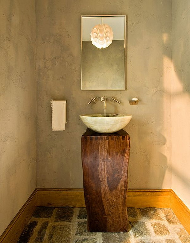 Rustic Small Bathroom Vanities With Vessel Sinks Wooden Base And White Cly Rectangular
