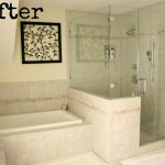 shower bath tub glass door pic