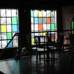 simple colorful stained glass windows for homes wooden furniture second floor stained glass windows brick walls
