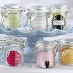 simple wedding gifts with glass jar adorned with colorful caption on it