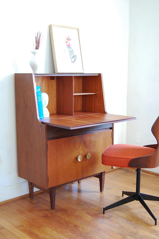 Mid Century Secretary Desk Fits