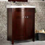 sink wood bath cabinet