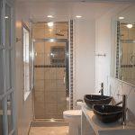 small bathroom sink mirror toilet shower