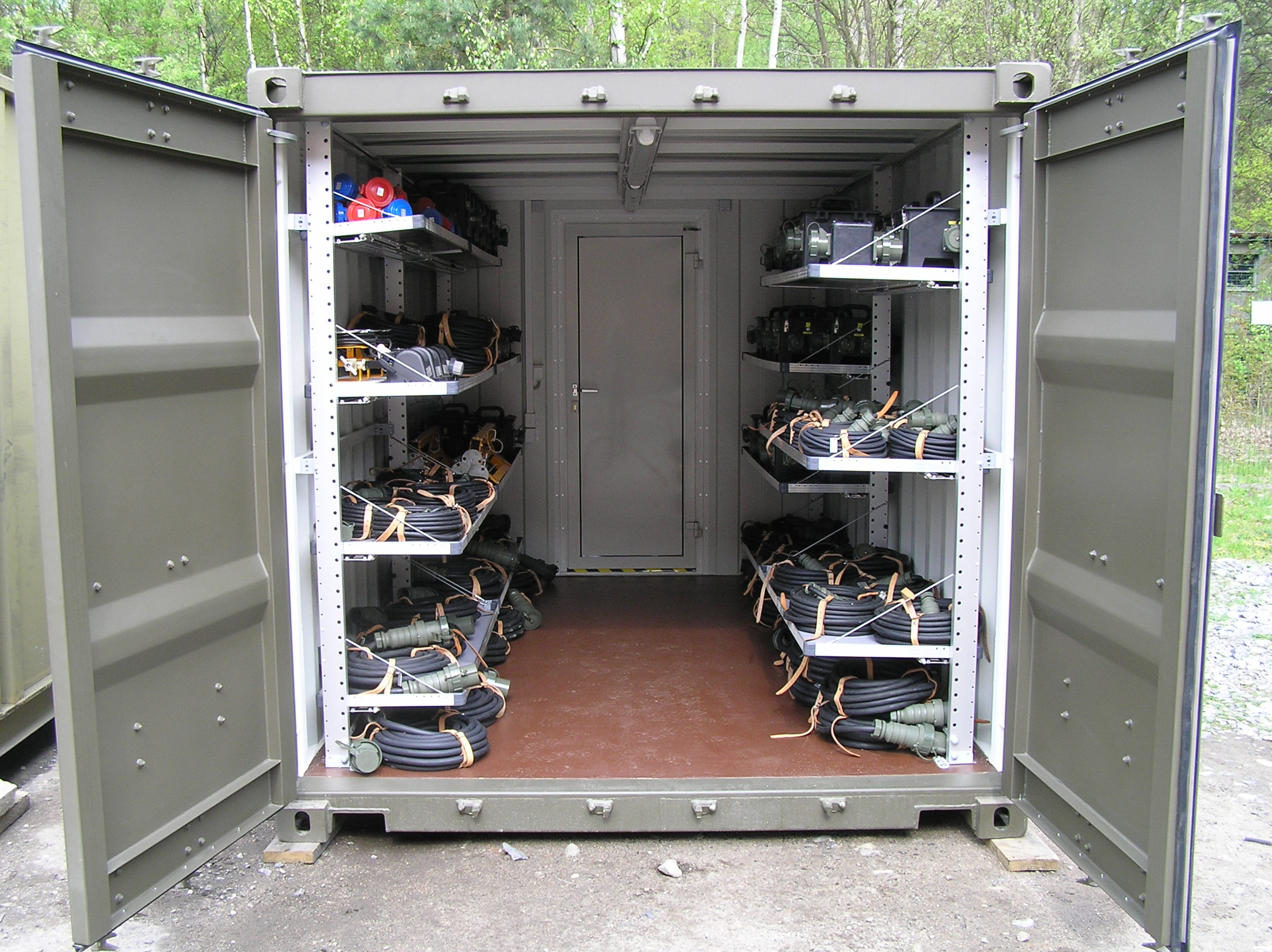 Smart Shipping Container Shed Transformation Design For Office Warehouse With Racks