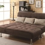 sofa bed sleeper pillows rug plants lamp cabinet pictures