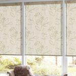 soft flower motive roller window shade ikea beige wall flower motive table lamp