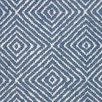 soft sisal rug in blue and white diamond pattern for modern living room ideas