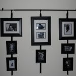 sophisticated black framed picture frame target idea with various size