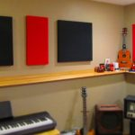 soundproofing an apartment soundproofing musical room with black red acoustic panels
