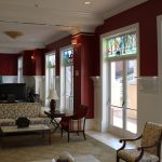 stained glass windows for homes living rooms stained glass windows red white room