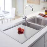 steel sink kitchen table chairs