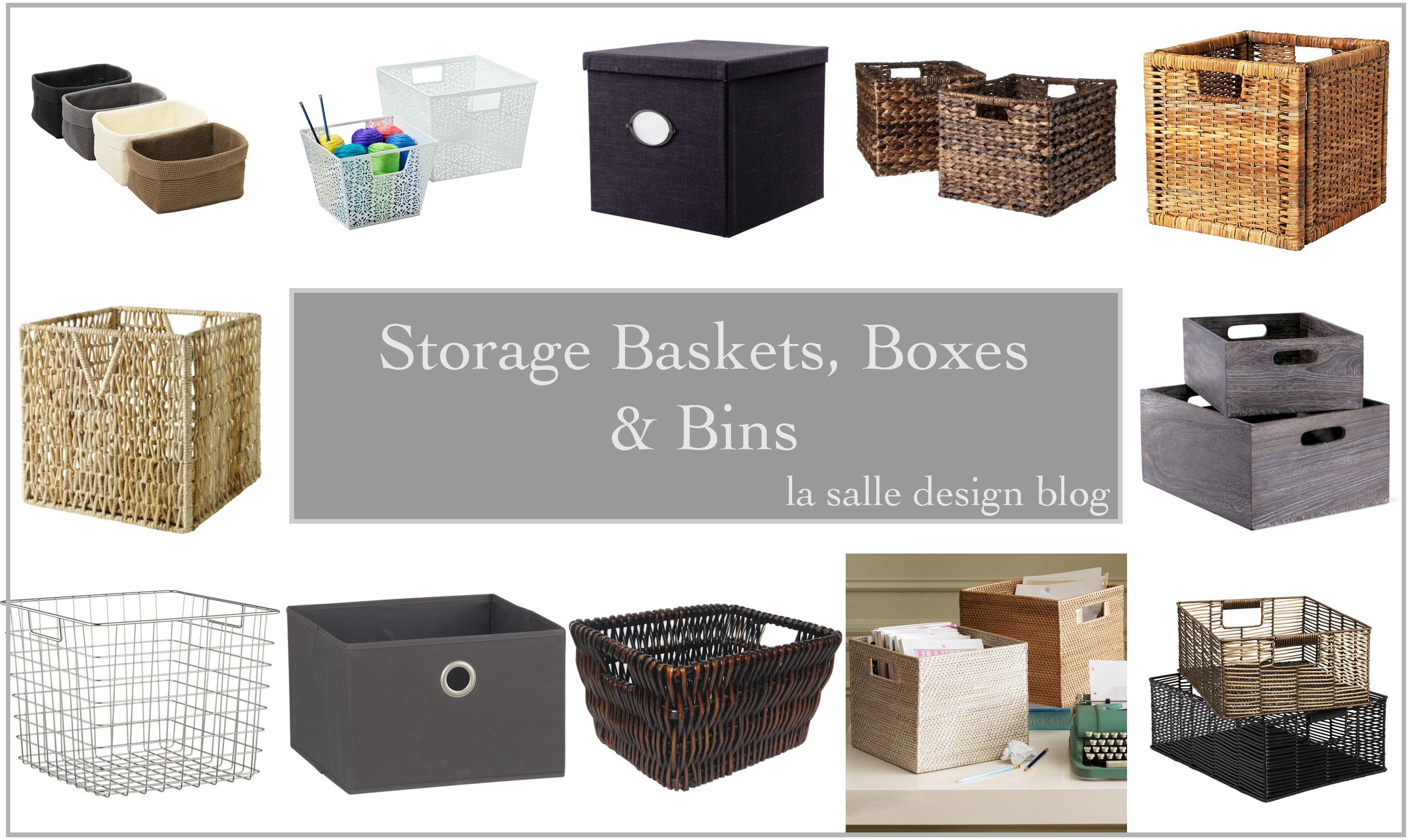 Storage Baskets Bo Bins