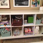 storage cube bin basket books pics frame