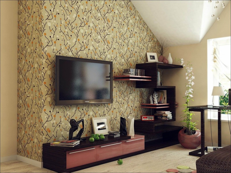 attic media room ideas - Flat Screen TV Wall Cabinets fering Space Saving