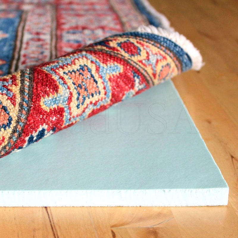 Stunning Red Blue Patterned Best Rug Pads For Hardwood Floor With Moroccan Style