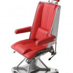 stylish red herman miller aeron chair parts design with headrest and tall backrest and modified legs with wheels