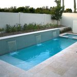 swimming pool square water plants tree
