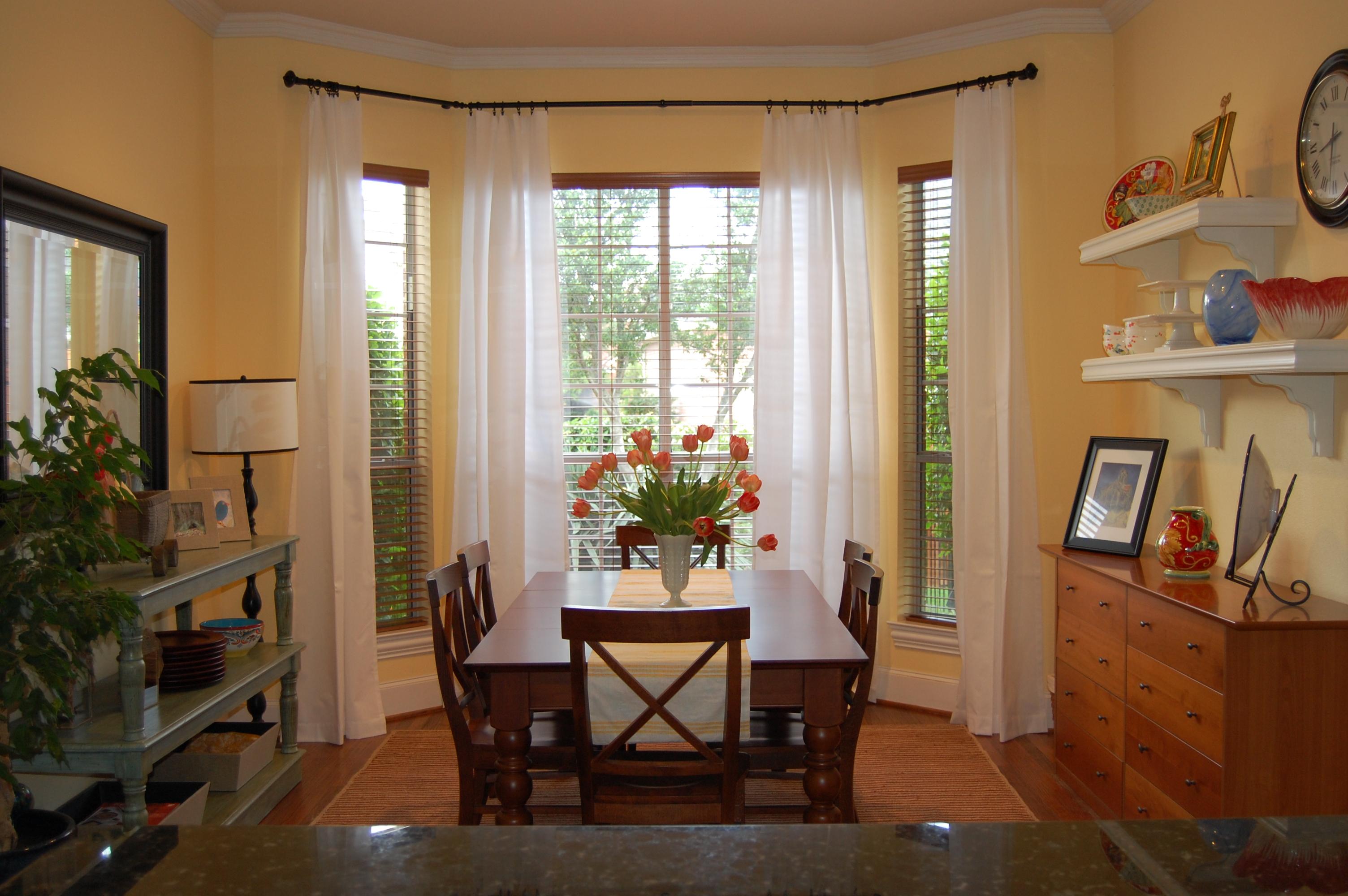 Window Treatments for Dining Room Ideas - HomesFeed on Dining Room Curtain Ideas  id=97746