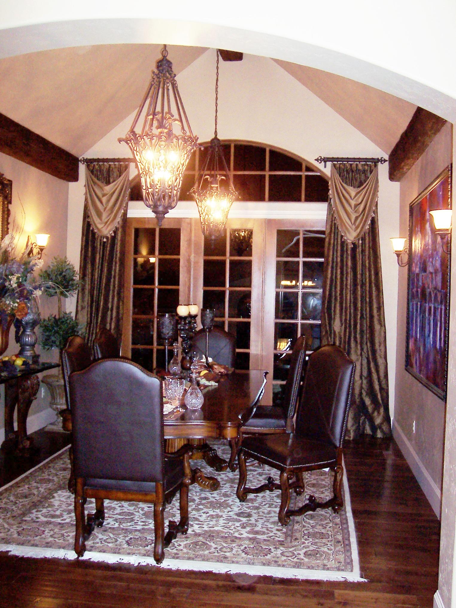 Window Treatments for Dining Room Ideas - HomesFeed on Farmhouse:-Cra1Rtrksu= Dining Room Curtains  id=52062