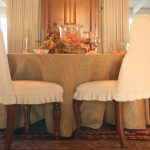 table cloth chairs rug flower curtains