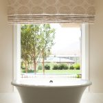 timeless roman shades outside mount for small bathroom window