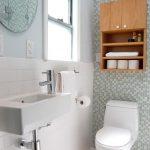 toilet shelf wood sink towel mirror window