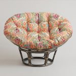 Tropical Sense Papasan Chair Ikea Design With Plaid Pattern For The Round Leg Madeof Rattan