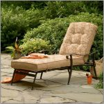 tropical walmart patio chair idea in cream tone with tuft pattern and day bed and black metal frame on stone patio