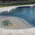 tumbled ivory travertine pavers pool deck unique backyard swimming pool