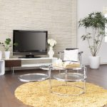 tv cabinet lamp shelf table chair pilow rug